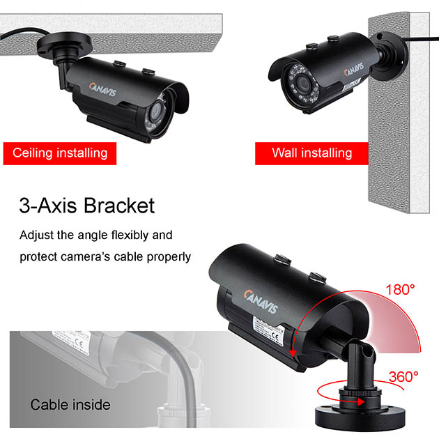 CANAVIS 720P/960P/1080P AHD Security Camera
