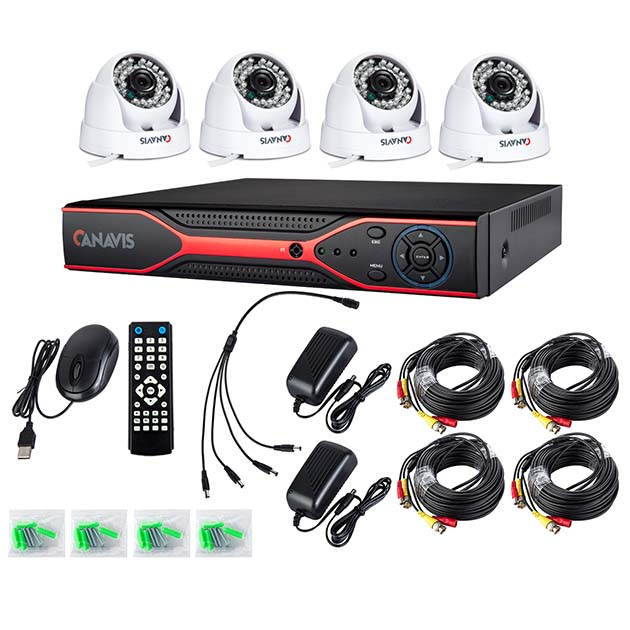 CANAVIS 4CH CCTV Video Security System