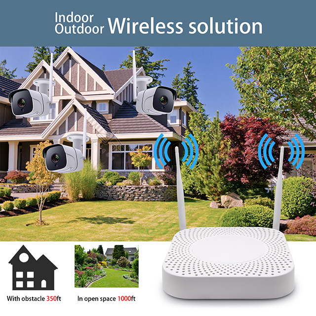 2CH 1080P Wireless Camera System