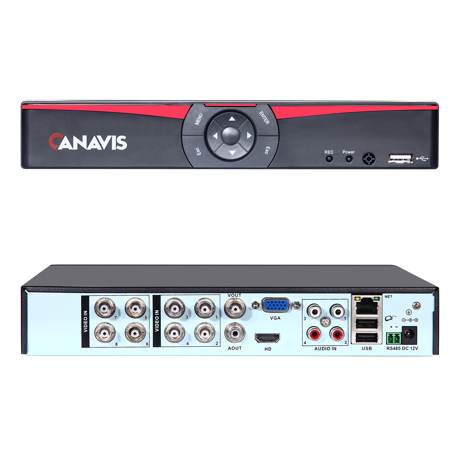 CANAVIS 5.0 Mega Pixel 8 channel digital video recorder
